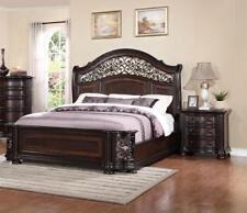 Espresso Finish Solid Hardwood Queen Size Bedroom Set 3Psc B366 ALLISON Mcferran