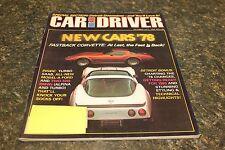 CAR AND DRIVER NEW CARS '78 OCTOBER 1977 VOL.23 #4 9248-1 [LOC.ELK] (BOX B) #348