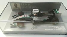 MINICHAMPS 410140144 F1 1/43 MERCEDES W05 LEWIS HAMILTON WINNER MALAYSIA GP 2014