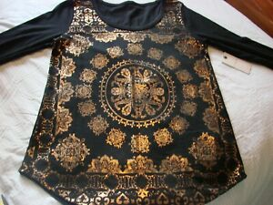 Lucky Brand Women's           Small        Black/Gold Top     NEW