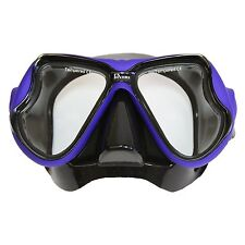 Adult FX Divers Sea Pro Dive Mask Black Blue With Protective Mask Storage Box