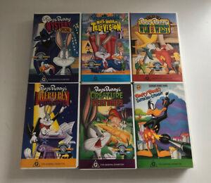 WARNER BROTHERS - BUGS BUNNY Bulk Lot of Vintage 90's VHS x6 *VGUC* Free Postage