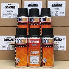 6 x Belton Molotow Premium 400ml Spray Paint - Black / White / Mixed Colours