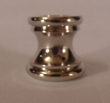 """New Nickel Plated Turned Brass Neck, 15/16"""" ht., 13/16"""" dia., 1/8F Tap #NN867N"""