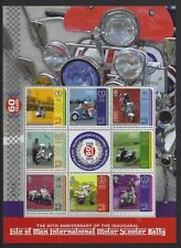 ISLE OF MAN 2018   Scooter ralley # special sheetlet #     POSTFRIS/MNH
