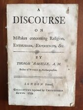 RARE 1759 Discourse Religion, Germantown PENNSYLVANIA Colonial pamphlets Sower