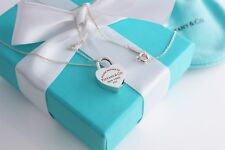"""Tiffany & Co. Sterling Silver """" Return to Tiffany """" Lock Necklace 18"""""""