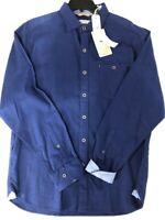 NWT Tommy Bahama LS Corvair Stretch Kingdom Blue Button Down Shirt Men's SZ L
