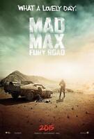 POSTER MAD MAX FURY ROAD TOM HARDY CHARLIZE THERON MAX ROCKATANKY FILM DVD #2