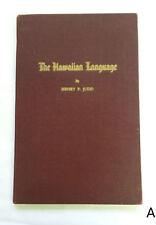The Hawaiian Language by Henry P. Judd 1944 Grammar Lessons & Vocabulary Hawaii