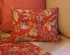 NEW Custom Ralph Lauren Camelia Floral Accent Pillow 2 Button