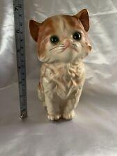 Vintage Enesco Cat Figurine 6 1/2� Orange and White