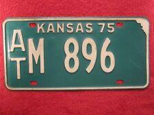 License Plate Car Tag 1975 Kansas At M 896 [Z276]