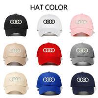 NEW Audi Cap Baseball Stylish Hat Car Adults Golf Embroidery Black Red Snapback