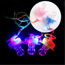 LED Nipple Glow Sticks Light Up Party Pacifier Whistle Cheer Toy Children Gift