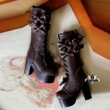 MSD Shoes 1/4 BJD Boots Supper Dollfie Boots Dollmore Luts AOD brown High heels