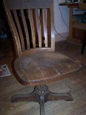 1880's Doten Dunton Desk Co.  swivel desk chair - fine antique