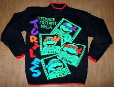 TEENAGE MUTANT NINJA TURTLES vtg kids sweater youth med TMNT cartoon Donatello
