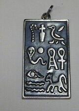 EGITTO  Grande Ciondolo con Cartigli  in Argento 925