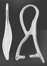 Argent sterling 1 925 slim ondulé pendentif pincée bail avec boucle, 16 x 2 mm, support