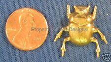 6pc Raw Brass Egyptian Scarab Beetle Bug Finding 3034