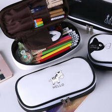 1Pc Classic School Pencil Case Large Capacity Pencil Bag PU Leather For Children