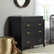 Monarch Hill Hawken Changing Table Topper, Black