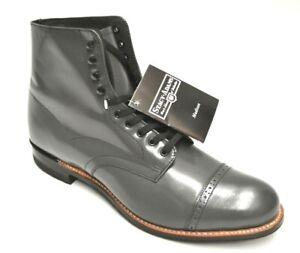 Men's Stacy Adams Madison Steel Gray Leather Cap Toe Boots