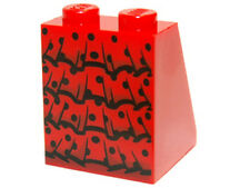 LEGO - Minifig, Slope with Flamenco Ruffles and Black Dots - Red