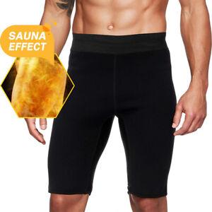 Man's Thermo Neoprene Sweat Sauna Body Shaper Pants Weight Loss Shorts Shapewear