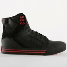 NEW SUPRA SKYTOP BLACK BLACK RISK RED 08174-053 SKATEBOARDING SHOES MENS 10