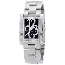 Milus Ladies Apiana Black Dial Diamond Ladies Watch APIS01SS