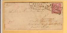 Preußen / ESSEN BEI WITTLAGE je Ra3 auf 2 Pracht-Briefstücken NDP 14 + 16, sowie