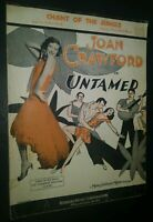 Sheet Music Chant of the Jungle Joan Crawford in Untamed w/ Ukulele Chords