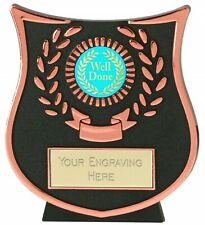 Emblems-Gifts Curve Bronze Well Done Plaque Trophy With Free Engraving
