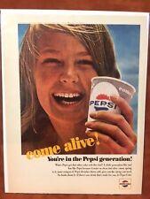 """1965 Pepsi """"Come Alive! You're in the Pepsi Generation""""  Color  Print Ad"""