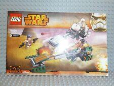 LEGO ® Star Wars recipe 75090 Ezra's Speeder Bike ungelocht ISTRUZIONI BA