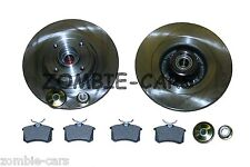 RENAULT SCENIC MK2 REAR BRAKE DISCS AND PADS WITH ABS BEARING QUALITY NEW UNITS