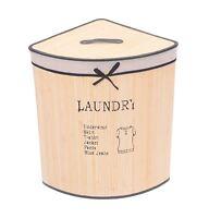 Luxus Bambus Wäsche Liste Schwarz Creme Ecke Wäschekorb 37x37x56cm