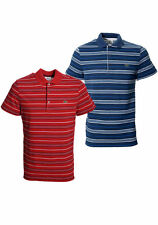 Lacoste Men's Cotton Short Sleeve Striped Casual Shirts & Tops