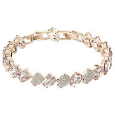 Swarovski Cristal Rosa Para Mujer Pulsera Brazalete Chapado en Oro Rosa 5451087