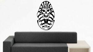 Wall Vinyl Sticker Decals Mural Design Bedroom Scull Pharaoh Egypt Statue #710