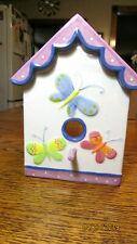 Yankee Candle Birdhouse Tart Warmer, Butterflies, Tulips SPRING CERAMIC PURPLE