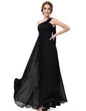 Ever-Pretty One Shoulder Evening Party Prom Ball Gown Bridesmaid Dresses 09816 Black 8