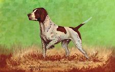 Vintage Dog Postcard,Pointer,Signed L.H.Dude Larsen,# D-8,c.1950s