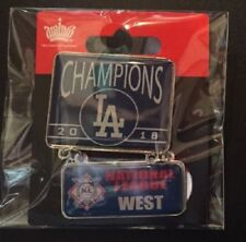 LOS ANGELES DODGERS PIN 2018 NATIONAL LEAGUE WEST CHAMPIONS POST WORLD SERIES