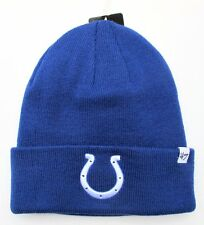 Indianapolis Colts Blue Knit Beanie Cap Hat by 47 Brand 2cb1041188c5