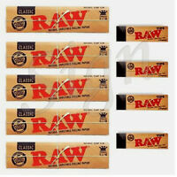 NEW RAW RIZLA CLASSIC KING SIZE SLIM 110 mm ROLLING PAPER WITH ROACH FILTER TIPS