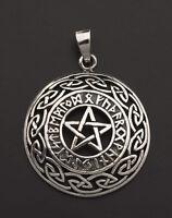 Ciondolo Tetragrammaton Rune Viking Pentacolo Pagana Argento 925 7g 25849 K25