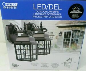2 PACK Feit LED Outdoor Lanterns Weatherproof Oil Rubbed Bronze Feit Electric